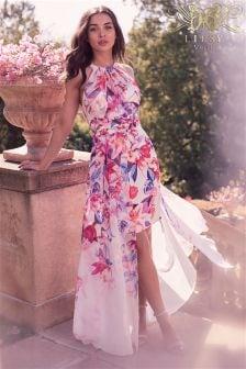 Lipsy VIP Issy Print Halter Maxi Dress
