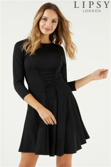 Lipsy Corset Fit And Flare Dress
