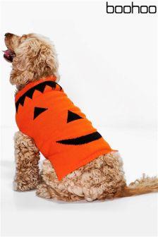 Sweter dla psa Boohoo Halloween z motywem dyni