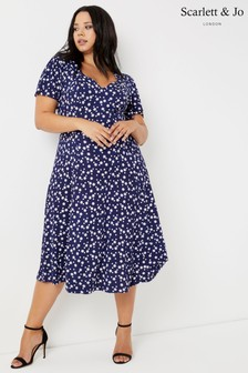 Scarlett & Jo Floral Star Print Dress