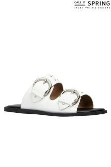 Call It Spring Two Band Slides Sandals