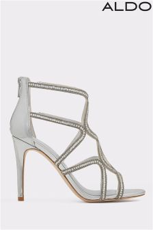 Aldo Embellished Small Chain Sandals