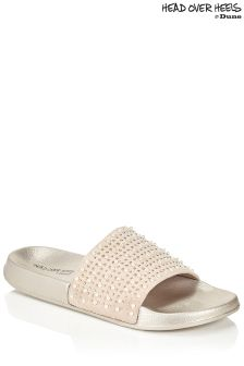 Head Over Heels Pearl Vamp Sliders