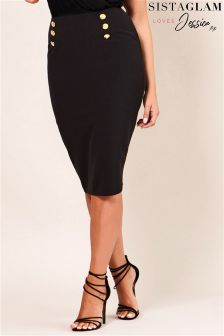 Sistaglam Loves Jessica PU Pencil Skirt