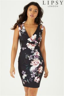 Lipsy Amber Print Bodycon Dress