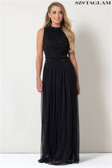 Sistaglam Maxi Beaded Maxi Dress