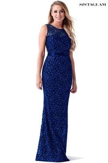 Кружевное платье макси с блестками Sistaglam