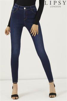 Lipsy Regular Length Rinse Lift And Shape Skinny Jeans
