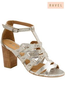 Ravel Mid Heel Leather Sandal