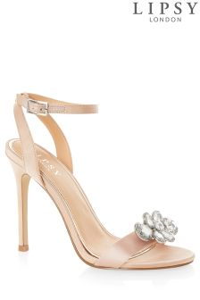 Lipsy Barely There Jewel Trim Sandals