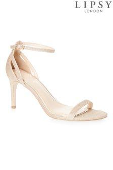 Sandales minimalistes Lipsy effet scintillant