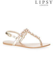 Lipsy Pearl Jewelled Sandals