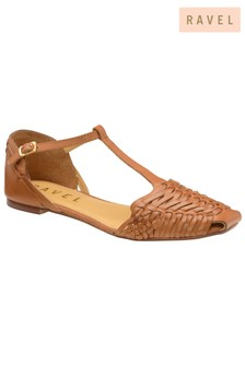 Ravel Woven Flat Leather Shoes