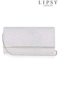 Lipsy Stardust Glitter Bar Clutch Bag