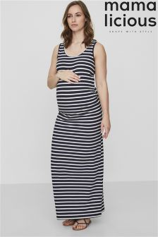 Mamalicious Maternity Stripe Maxi Dress