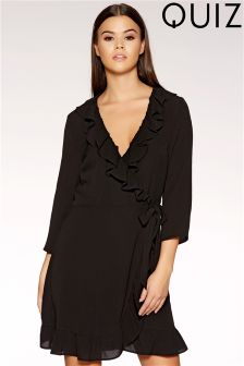 Quiz Frill Wrap Dress