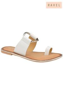 Ravel Flat Leather Sandals
