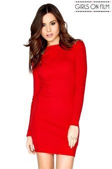 Girls On Film Bodycon Knitted Dress