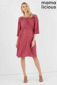 Mamalicious Gewebtes Kleid mit 3/4-Ärmeln (Umstandsmode)