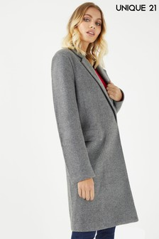 Unique 21 Tailored Check Coat