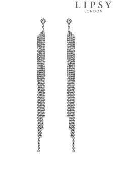 Lipsy Crystal Diamanté Shower Drop Earrings