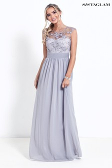 grey dresses grey party amp evening dresses next