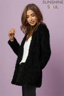 Sunshine Soul Knitted Texture Cardigan