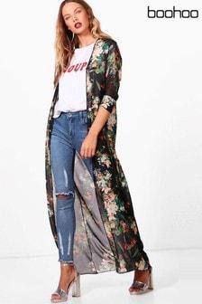 Boohoo Maxi Floral Kimono