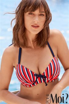 Pour Moi Hamptons Padded Halter Underwired Top