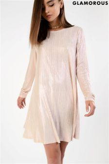 Glamorous Metallic Smock Dress