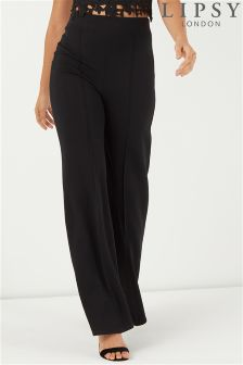 Lipsy Longer Length High Waisted Trousers
