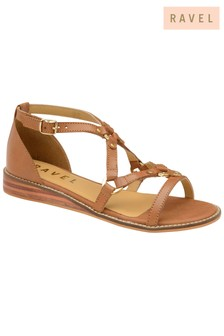 Ravel Flat Leather Sandals