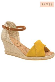 Ravel Leather Espadrille Wedge Heels