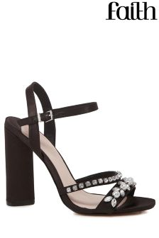 Faith Block Heel Pearl Sandals