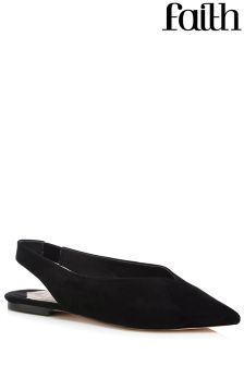 Faith High Vamp Leather Flats