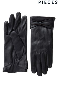 Pieces Bow Leather Glove
