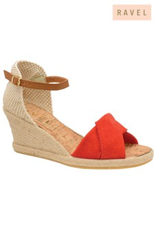 7bb9cfc16c4f Ravel Leather Espadrille Wedge Heels
