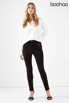 Boohoo Multi Zip Trousers