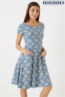 Brakeburn Swans Skater Dress