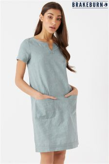 Brakeburn Tulip Linen Blend Dress