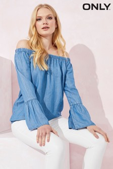 Only Off The Shoulder Denim Top