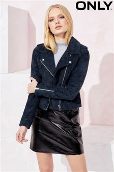 Only Suede Biker Jacket