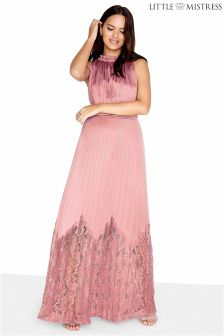 Rochie maxi Little Mistress din satin