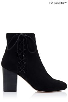 Forever New Cross Lace Ankle Boots