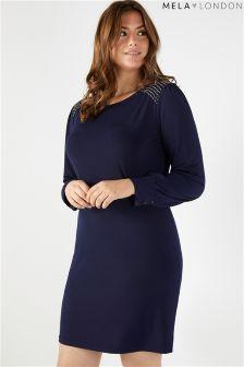 فستان بخرز على الكتف مقاس كبير من Mela London