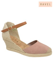 Ravel Leather Espadrille Wedge