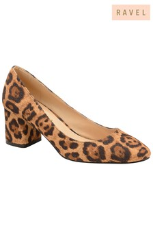 783e24ab3661 Ravel Leopard Print Block Heel Court Shoe