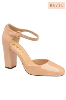 Ravel Leather Block Heel