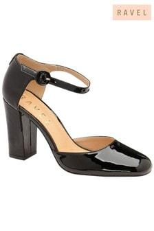 Ravel Leather Block Heel