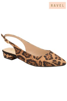 c150866684c6 Ravel Leopard Slingback Leather Flats